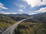 Italian highway, aerial view