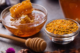 honeycomb and pollen propolis- product of bee.