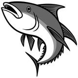 Tuna Jumping Illustration