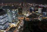 東京都市風景 夜景 湾岸エリア 竹芝 晴海 月島 勝どき 芝浦 豊洲 東京湾