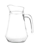 Empty pitcher isolated on a white background.