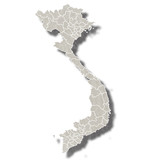 ベトナム 地図 都市 アイコン