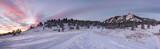 Snowy Flatirons Panorama