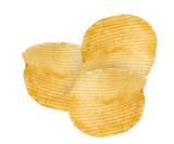 Potato Chips Isolated on white.Close-up image.