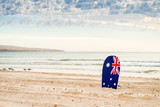 Surfing board with Australian flag