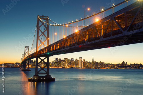 Bay Bridge, San Francisco Skyline, Downtown San Francisco, Kalifornia, USA