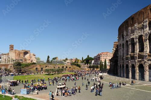Poster Piazza Kolosseum und Forum Romanum