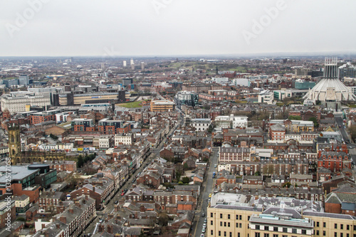 Poster Panorama view of Liverpool, Merseyside, United Kingdom