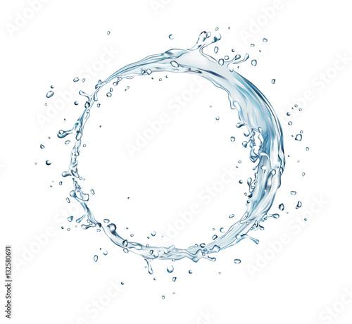 koło plusk wody wektorowej