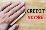 Credit score text concept