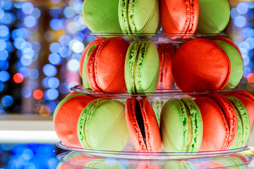 French macaroons.Candy bar.Wedding feast. sweets