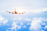 airplane fly in the sky, international passenger flight, travel concept background - 132620602