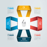 4 steps connected infographic. Vector illustration.