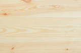 Fresh knotted pine wood planks background top view. Visible texture with natural patterns. - 132626236