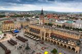 Main market square and Cloth Hall of Krakow, Poland.