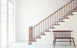 Stairway. 3d render. - 132666420