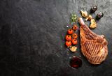 grilled tomahawk beef steak