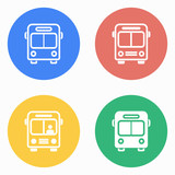 Bus icon set.