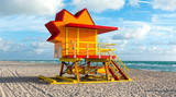 Miami Beach Sun Shaped Lifeguard Hut Art Deco Style