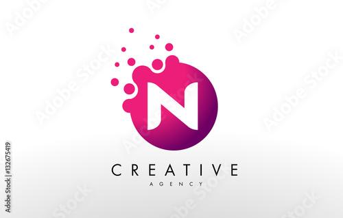 Letter N Logo. N Letter Design Vector - 132675419