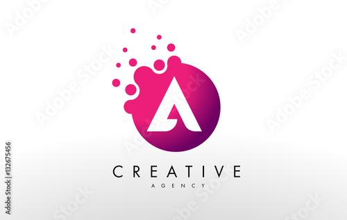 Letter A Logo. A Letter Design Vector - 132675456