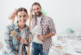 Creative couple renovating their house