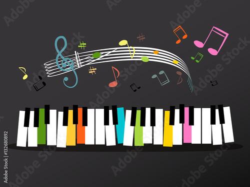 teclado-musical-con-teclas-de-colores-y-notas