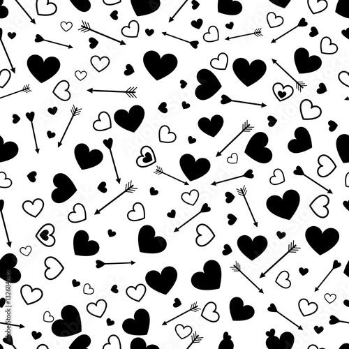 Materiał do szycia Miłość serce valentine wzór ze strzałkami