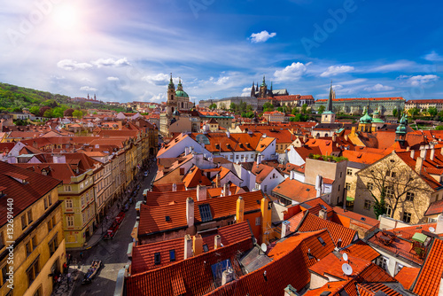 Poster Mala Strana (Lesser Town of Prague) and Prague Castle