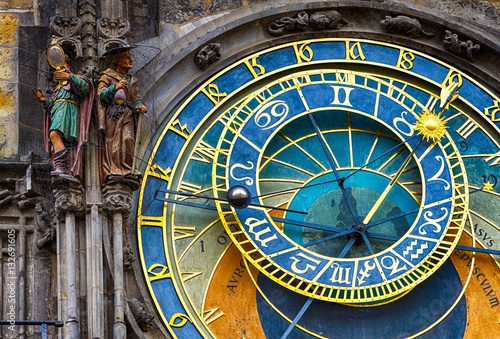Poster Astronomical Clock Orloj in the Old Square of Prague