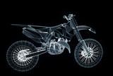 Motorbike in Hologram Wireframe Style. Nice 3D Rendering - 132702627