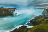 Niagara Falls panoramic view, long exposure
