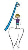 Zähne putzen - Zahnpflege und Hygiene bei Kindern, Junge mit Zahnbürste