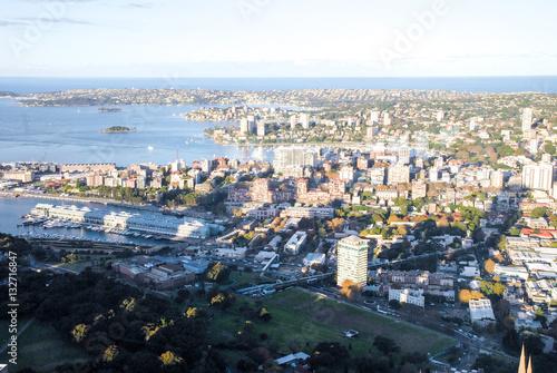 Poster シドニー・タワーから見下ろすシドニーの街並み(オーストラリア)