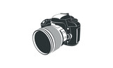 Vector flat style illustration of camera