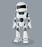 Realistic  The  Robot  Robot Wall Sticker