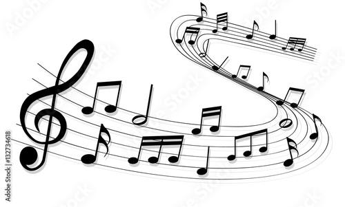 Fotobehang Muziek sheet music
