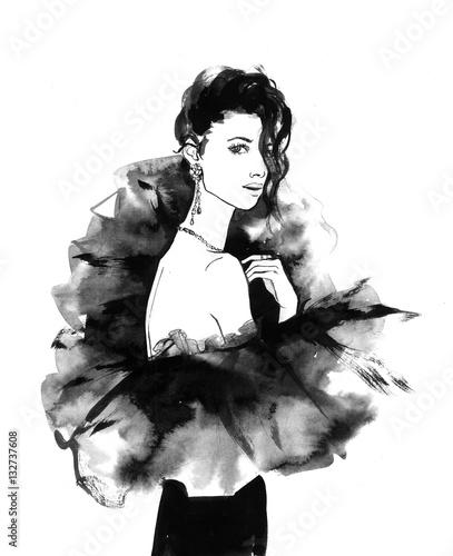 fashionable young girl - 132737608