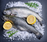 Fresh fish and lemons