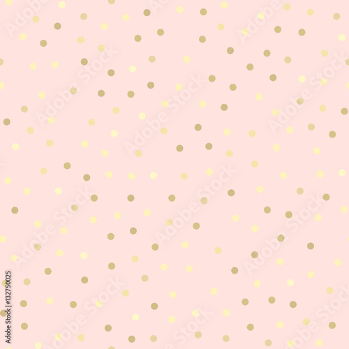 Cotton fabric Golden glitter seamless pattern, pink background