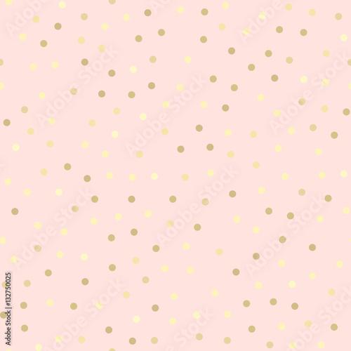 Golden glitter seamless pattern, pink background - 132750025