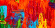 Abstract oil painting. Art brushstrokes watercolor. Modern and contemporary artwork. Colorful background - 132751485