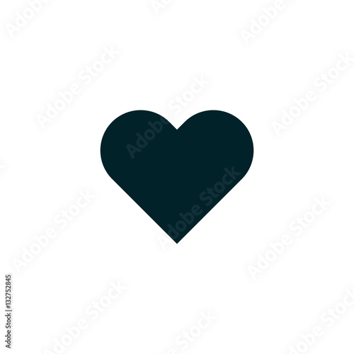 Love Symbol Heart Icon Vector Solid Logo Illustration Buy Photos