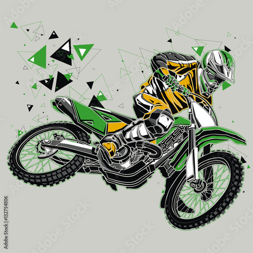 motocross-fahrer-mit-einer-grafischen-spur