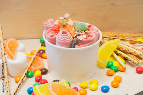 Foto Murales plombir, ice cream, ice roll