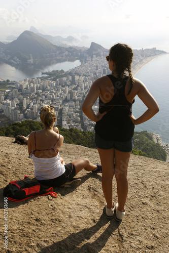 Obraz na plátně View of two brother mountain, Rio de Janeiro