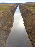 Irrigation canal on countryside