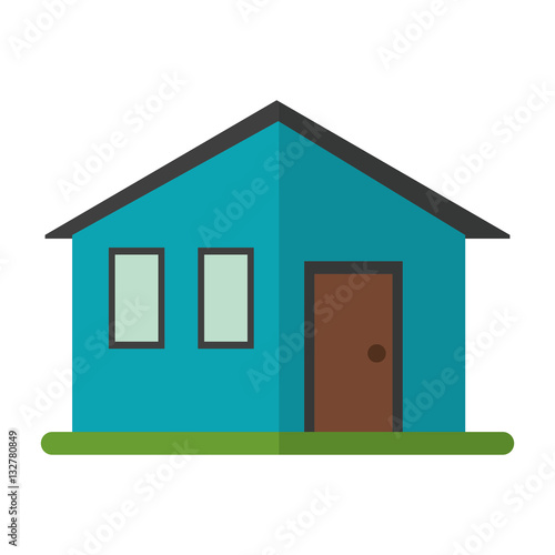 House family simple front view vector illustration eps 10 for Simple house front view