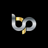 Initial Letter BP Rounded Lowercase Logo