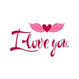 I love you. Romantic phrase.